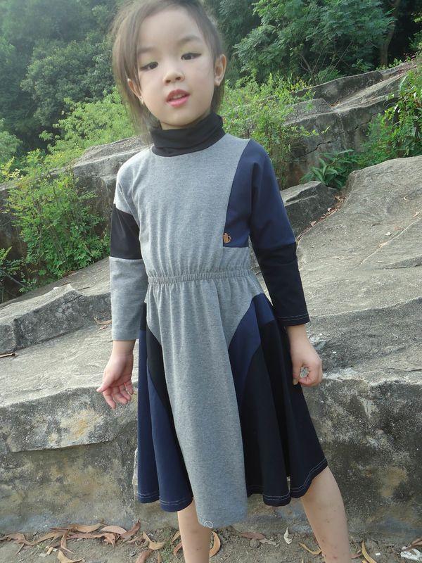 9ddd4d4e7 Grey Turtleneck 5 Year Baby Girl Dress