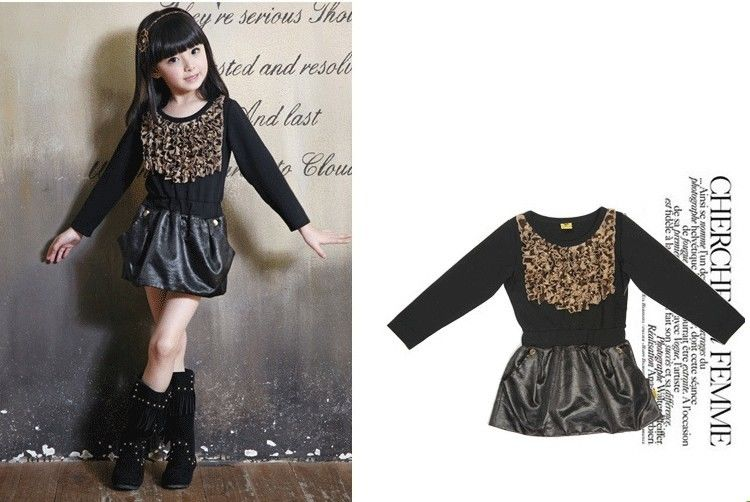1aaf70596106 Leather Skirt Girls Winter Frocks