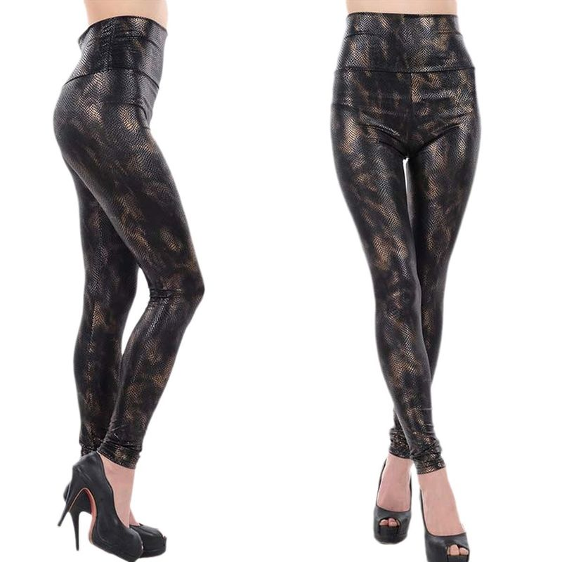 94bb879be9674 China Skinny Leopard Print Yoga Leggings , High Waisted Faux Leather  Leggings For Girls supplier