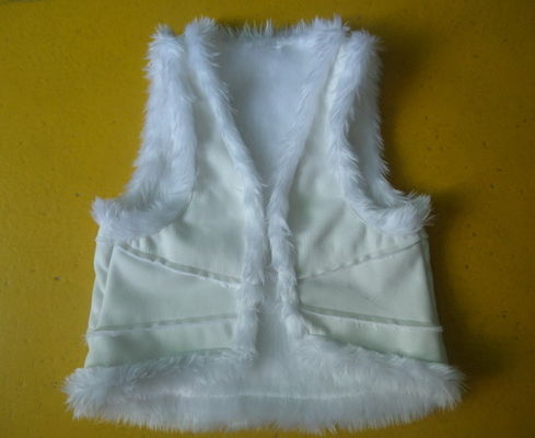 Suede And Fur Joint Winter Vest Jackets , Warm Womens Sleeveless Vest Jacket