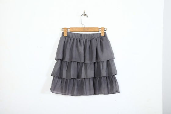 Lightweight 100% Polyester Mini Skirt , Frills 3 Layered Mini Skirt For Women
