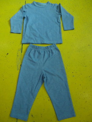 Solid Colors Children'S Cotton Pajamas Simple Boys Two Piece Pajamas Lightweight