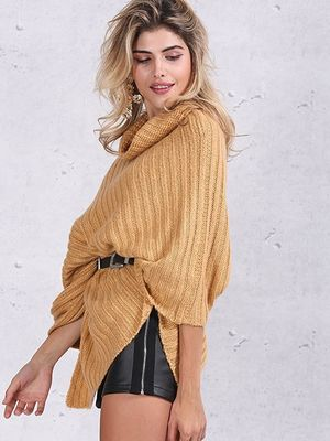 583f26f5c392bc Turtleneck Fashion Pullover Sweaters Cable Knit Pullover Womens Capes And  Cloaks