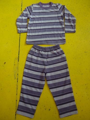 Comfy Multi Striped Kids Pajama Sets , Toddler Boys Winter Pajamas
